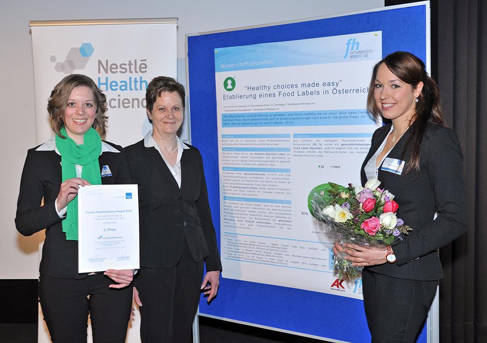Bachelor – 3. Preis: Margarete Schermann, BSc und Anna Perndl, BSc - FH Gesundheitsberufe Österreich